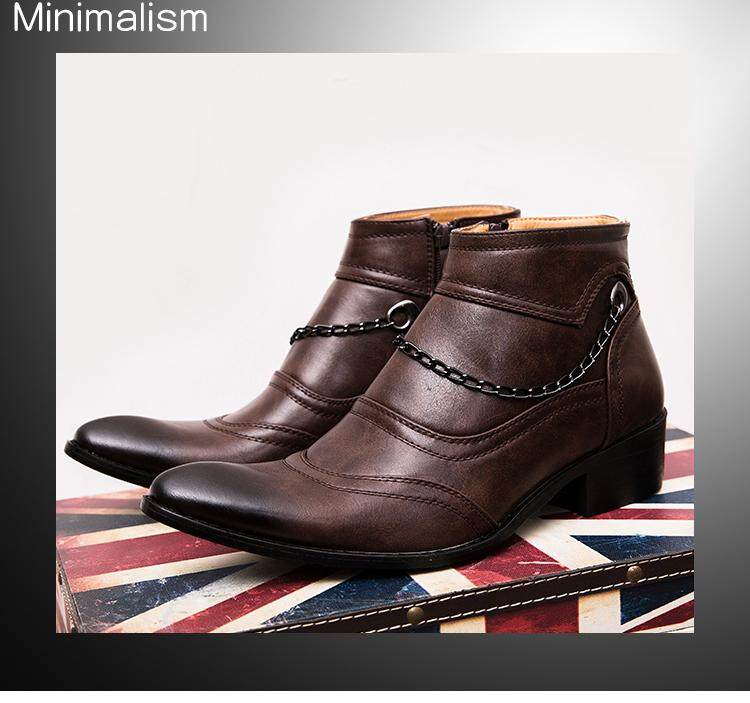 9ee60c52453 Soaring 2018 New Autumn Winter Men Boots Big Size 39-44 Vintage Style Men  Shoes Casual Fashion High-Cut Zip Warm