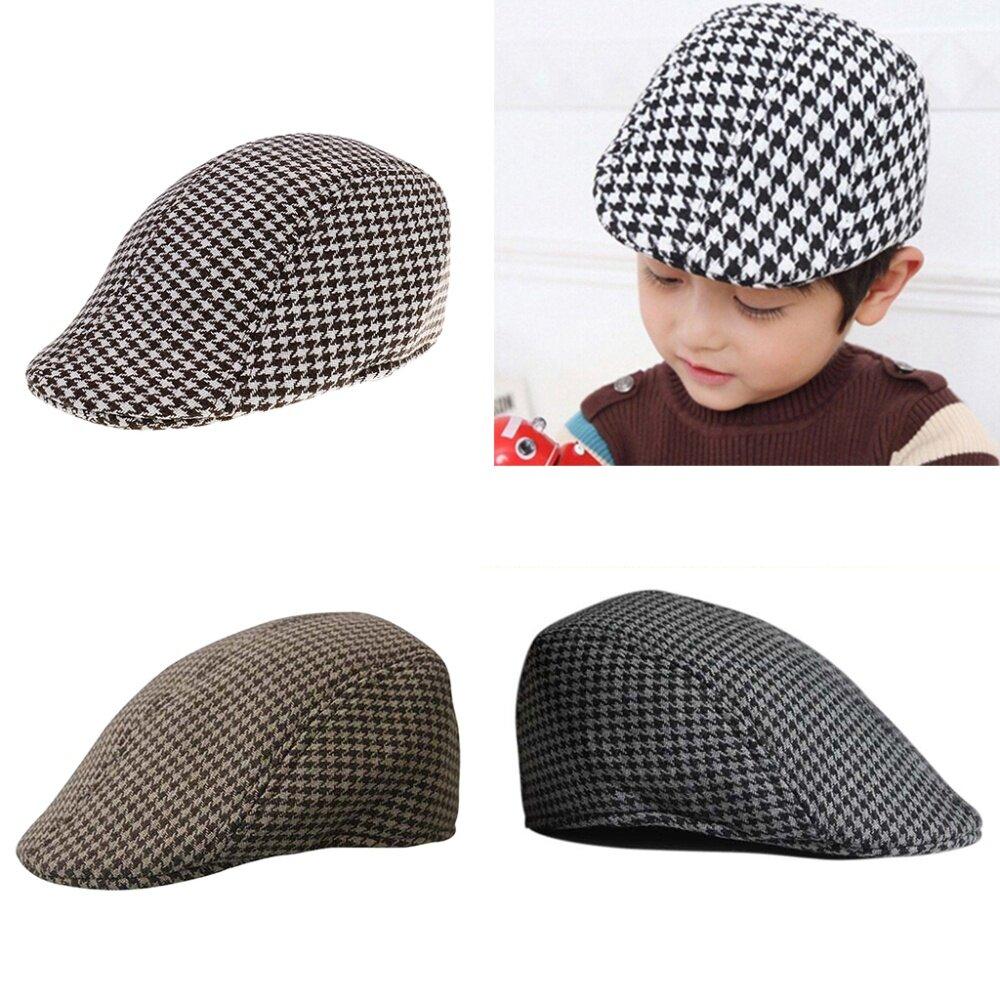 Kids Boys Girls Flat Gatsby Newsboy Baker Beret Hat Casual Duckbill Cabbie Caps