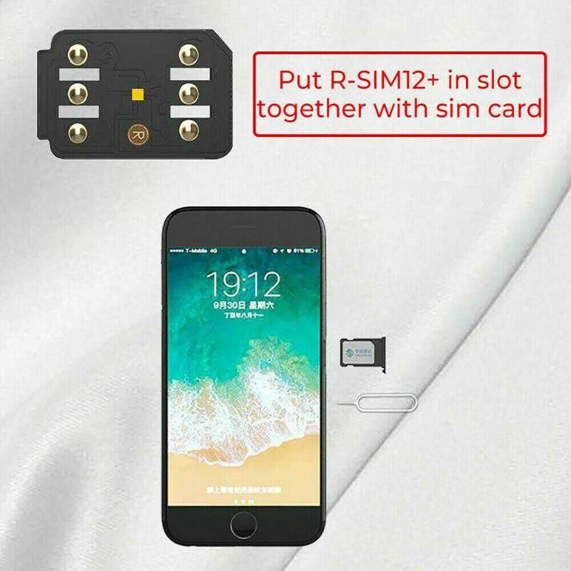 ถาดซิม RSIM 12 + PLUS 2019 R-SIM NANO กล่องเก็บซิมการ์ดเหมาะกับ iPhone  X/8/7/6/6 S 4G iOS 12 3