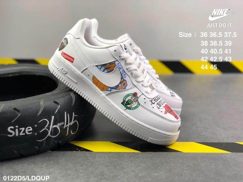 premium selection cf2c1 6df4f Supreme X NBA X Nike Air Force 1 AF1 Graffiti Fashion Casual Low-top Board  Shoes Campus Couples Shoes (one Pair of Nike's Socks As A Gift) Fashion ...