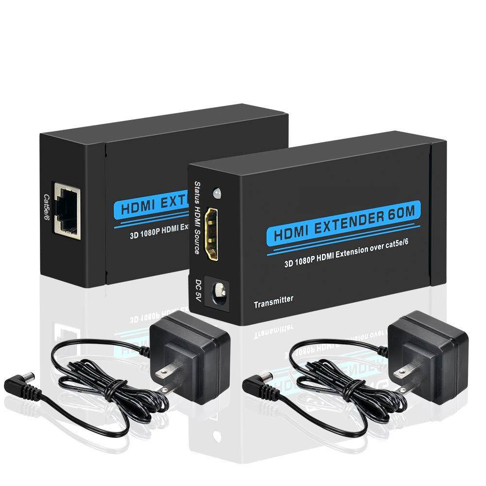 1080P HDMI Network Extender Over Single Cable IR CAT5E CAT6 Ethernet Cable 3D