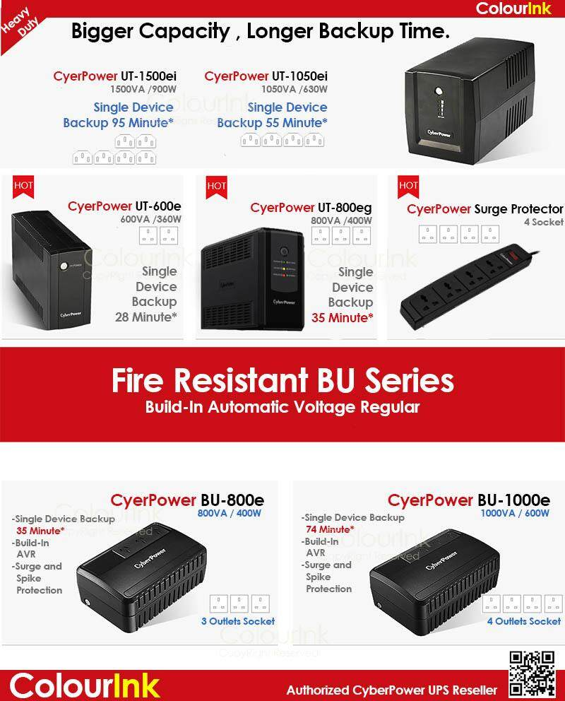 Cyberpower BU800E 800VA UPS Backup Battery with Build-in AVR
