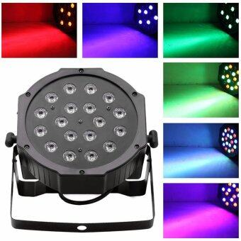 Harga 18*3W LED RGB PAR CAN DJ Stage DMX Lighting For Disco WeddingUplighting EU Plug-