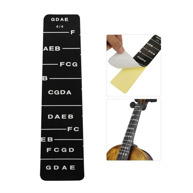 1pcs Fretboard Fingerboard Fret Finger Chart Guide Label Sticker Poster for Full 4/4 Size Violin Fiddle Malaysia