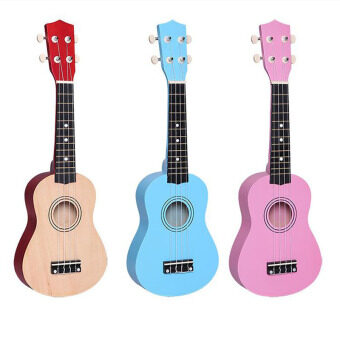 21 Inch Ukulele Guitar Basswood 4 String Little Hawaiian Guitar Musical Instruments+Free Bag For Beginners Or Basic Players(Rose)