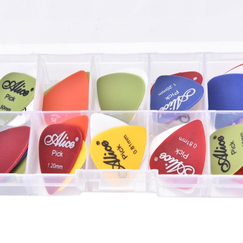 24pcs Acoustic Electric Guitar Picks Plectrum Various 6 Thickness + Pick Box Malaysia