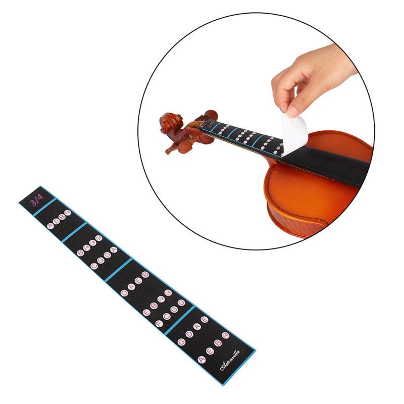 3/4 Violin Fiddle Finger Guide Fingerboard Sticker Label Intonation Chart Fretboard Marker for Practice Beginners Malaysia