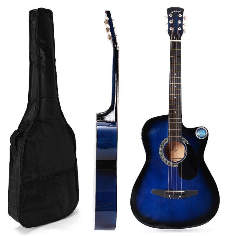 38 Basswood Guitar with Bag Multi-color 18 Frets for Starter Beginners Style Malaysia