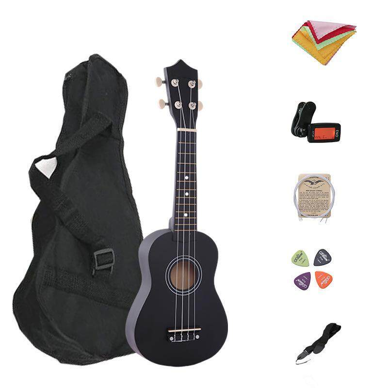 7 in 1 21 Inch Wood Concert Ukulele with Free Bag Tuner Strap Spare String Wiper Ukulele Pick Malaysia