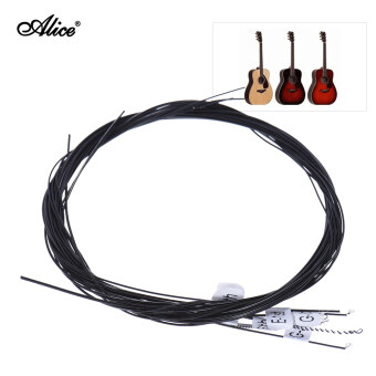 Alice AC136BK-N Black Nylon Classical Guitar Strings 6pcs/set (.028-.043) Normal Tension with One Complimentary G-3rd String