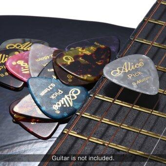 Alice AP-12K 12pcs/pack Hot-stamping Guitar Picks Plectrum Mix Gauges 0.46mm/0.71mm/0.81mm (Random Color)
