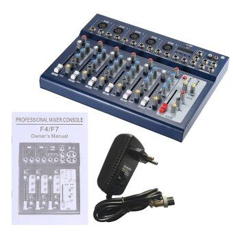 ammoon F7-USB 7-Channel Digtal Mic Line Audio Sound Mixer Mixing Console with USB Input 48V Phantom Power 3 Bands Equalizer for Recording DJ Stage Karaoke Music Appreciation Outdoorfree - 3