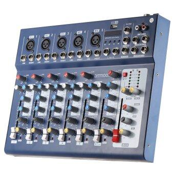 ammoon F7-USB 7-Channel Digtal Mic Line Audio Sound Mixer Mixing Console with USB Input 48V Phantom Power 3 Bands Equalizer for Recording DJ Stage Karaoke Music Appreciation Outdoorfree - 5