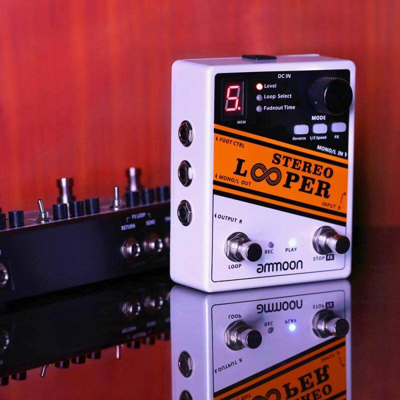 ammoon STEREO LOOPER Loop Record Guitar Effect Pedal 10 Independent Loops Max. 10min Recording Time for Each Loop Unlimited Overdubbing Malaysia