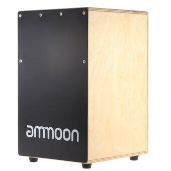 Harga ammoon Wooden Cajon Hand Drum Children Box Drum PersussionInstrument with Stings Rubber Feet 23 * 24 * 37cm