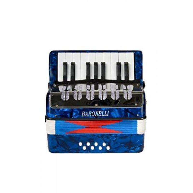 Baronelli Blue Beginner Educational 17 Key Junior Accordion with adjustable Straps, & DirectlyCheap(TM) Translucent Blue Medium Pick Malaysia