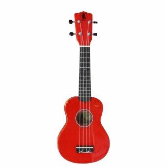 BLW 21 Inch 4 Nylon Strings Soprano Ukulele Hawaii Guitar FREE Bag, Chord Chart, Pick & Sticker (Red) - 5
