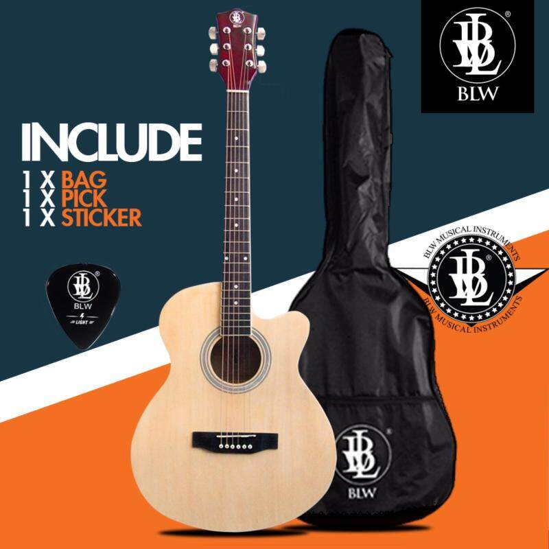 BLW 40 Inch Standard Orchestra Acoustic Guitar for Beginners SO400 Comes with Bag, Pick and Merchandise Sticker (Natural) Malaysia