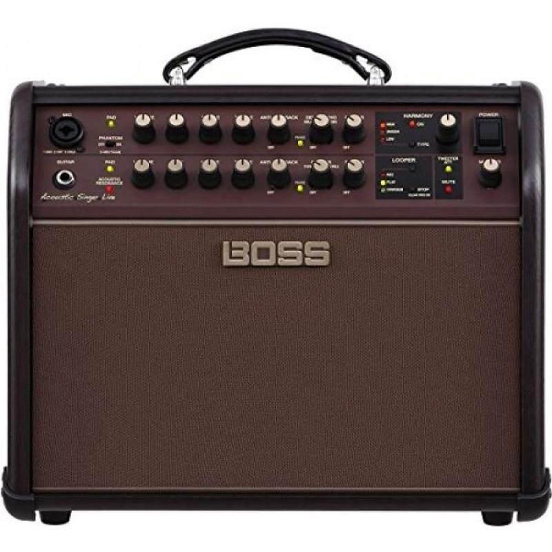 Boss ACS-LIVE Acoustic Singer Live Acoustic Amplifier w/Bonus Strukture Instrument Cable SC186W & RIS Picks (x3) 761294509616 Malaysia