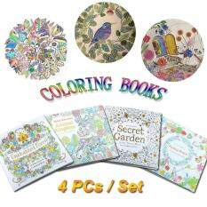 Children Adult Coloring Books Painting Secret Garden An Inky Treasure Hunt