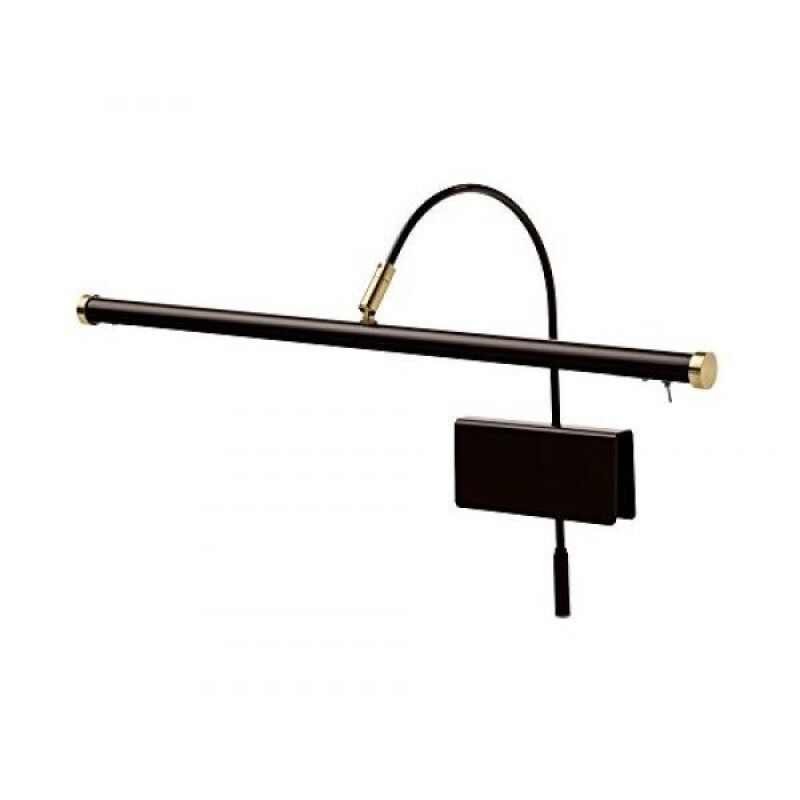 Cocoweb 19 Dimmable Adjustable Energy-efficient LED Grand Piano Clip-on Lamp with Rotational Light Shade - Mahogany Bronze with Brass Accents - GPLED19MBD Malaysia