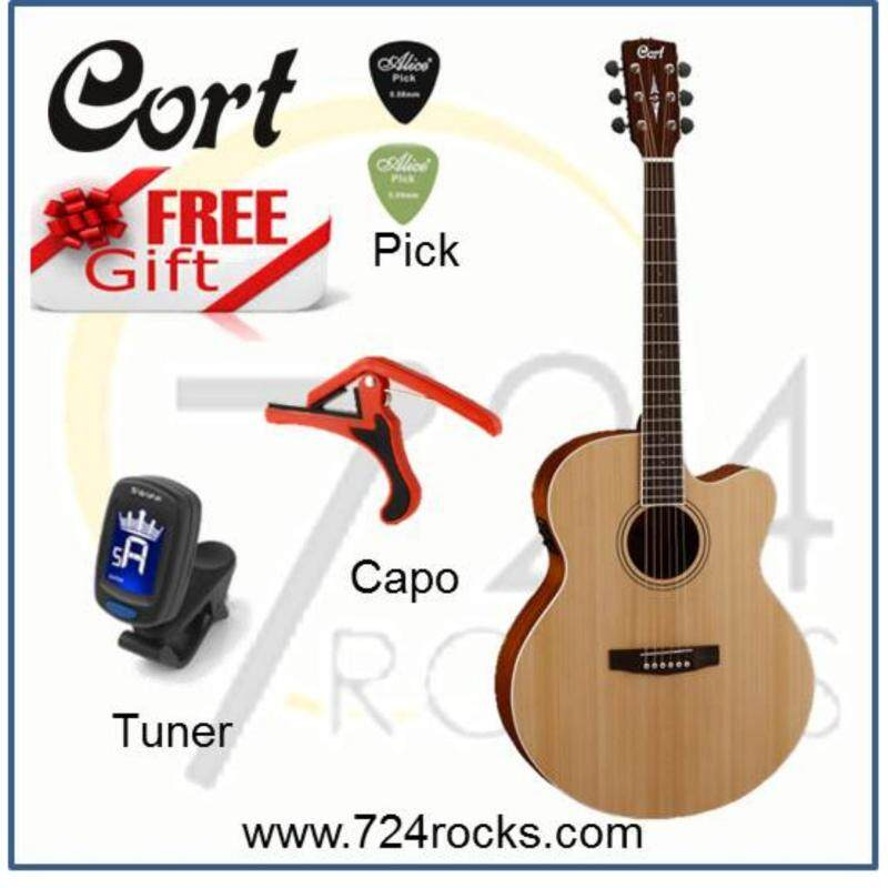 Cort CJ1F Solid Top Jumbo Acoustic Guitar With Pickup Free Capo, Tuner & Picks Malaysia