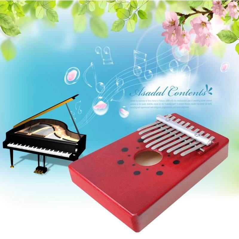 cushan 10 Key Finger Piano Kalimba Mbira Likembe Sanza Thumb Piano (Red) Malaysia