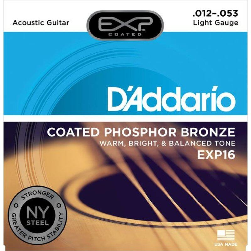 DAddario EXP16 Coated Phosphor Bronze Light Acoustic Guitar Strings Malaysia