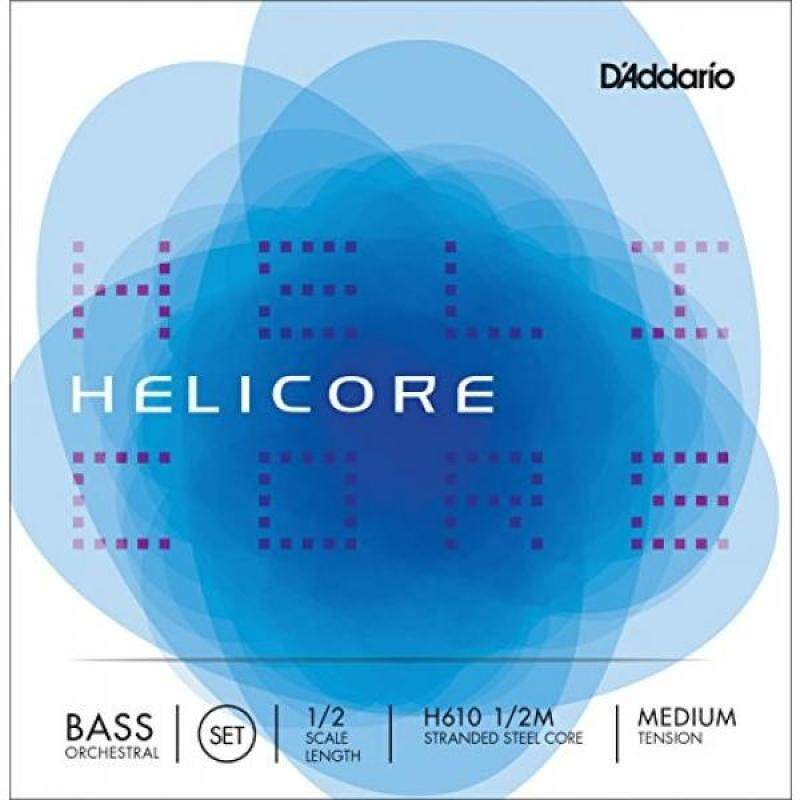 DAddario Helicore Orchestral Bass String Set, 1/2 Scale, Medium Tension Malaysia