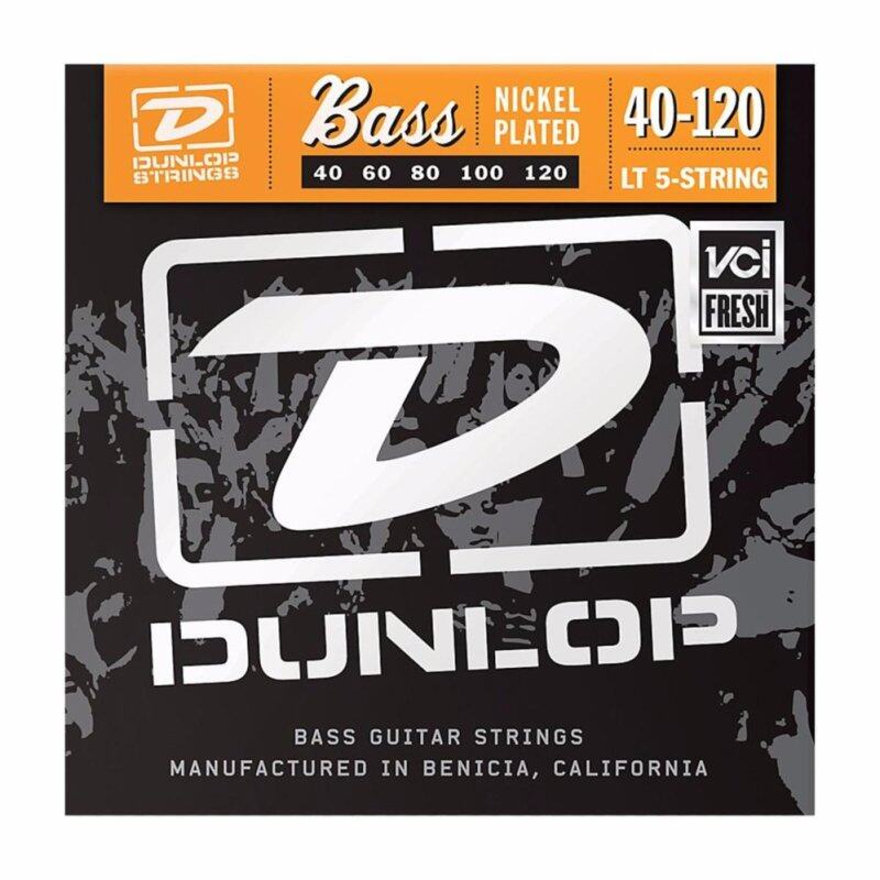 Dunlop DBN40120 Nickel Plated Steel Light 5-String Bass Strings (040-120) Malaysia