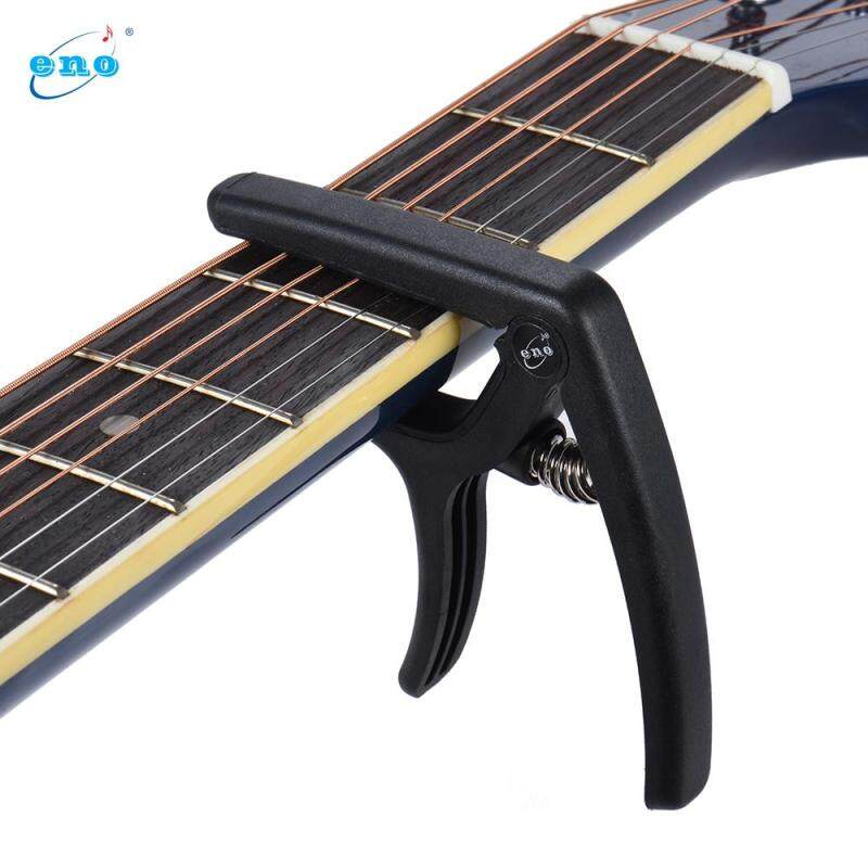 eno EGC3 Lightweight Quick Change Capo Clamp Plastic Steel for Acoustic Classical Folk Electric Guitar Bass Black Malaysia