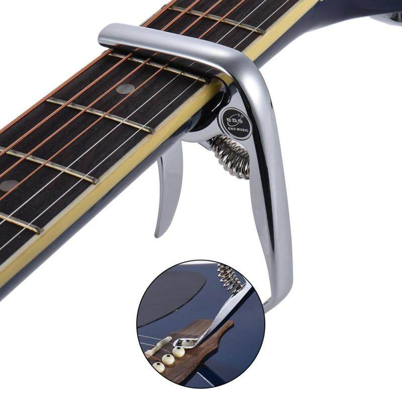 eno EGC5 Premium Zinc Alloy Guitar Capo with Rounded Unique Pin Extractor for Acoustic Electric Folk Guitar Bass Ukelele Banjo Mandolin Silver Malaysia