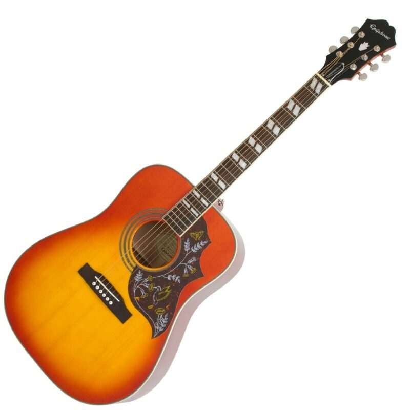 Epiphone Hummingbird PRO Acoustic Electric Guitar (Faded Cherry Burst) Malaysia