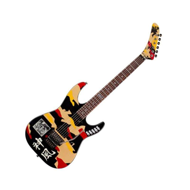 ESP LTD GL-200K Floyd Rose George Lynch Electric Guitar -Black with Kamikaze Graphic Malaysia
