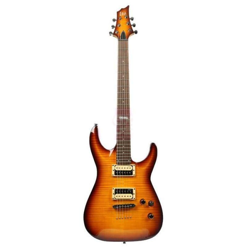 ESP LTD H-101 Flame Maple Amber Sunburst Electric Guitar Malaysia