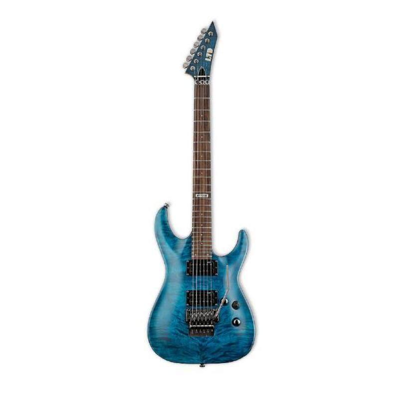 ESP LTD MH-100 QM See Thru Blue Floyd Rose Electric Guitar Malaysia