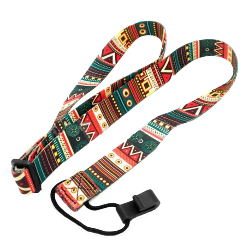 Fashion Classical Adjustable Clip-on Ukulele Guitar Neck Strap Loop Button Free No Drilling Ethnic Style Malaysia