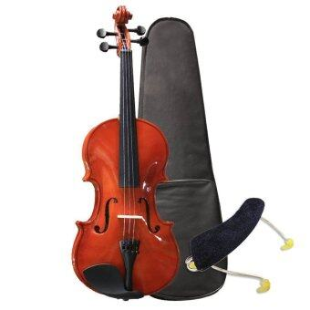 Harga Full Size 4/4 Basic Violin with carrying case, bow and freeShoulder Rest (Brown)