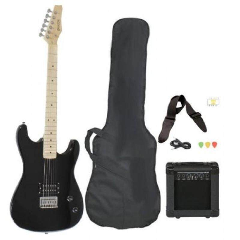 Full Size Black Electric Guitar with Amp, Case and Accessories Pack Beginner Starter Package Malaysia