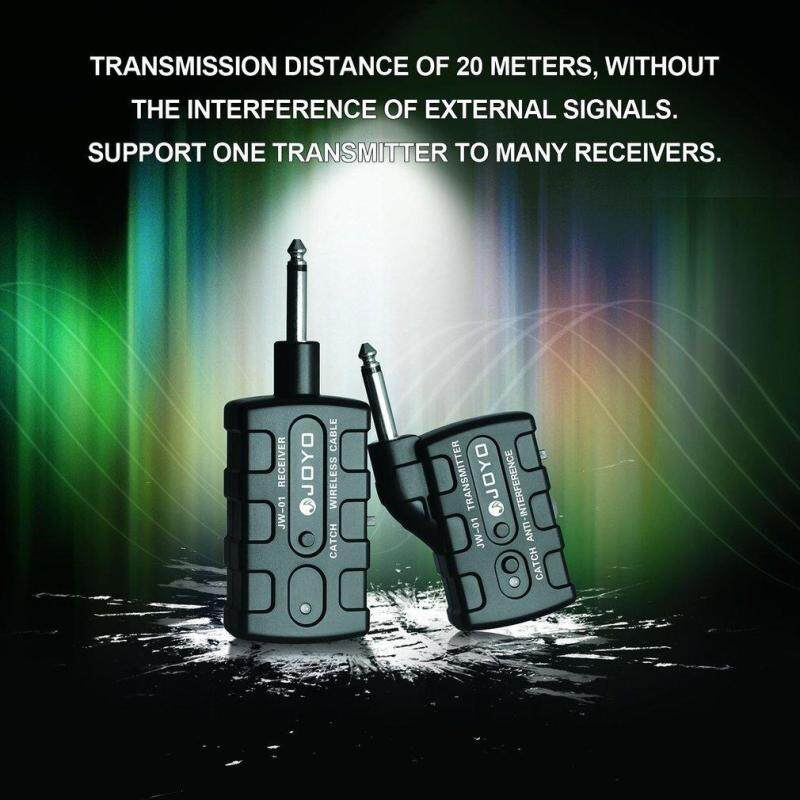Gift  JW-01 Guitar Wireless Audio Transmitter Receiver Guitar Digital Bass Keyboards Black US Malaysia