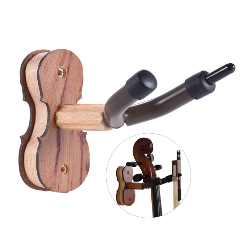 Hardwood Violin Hanger Hook with Bow Holder for Home & Studio Wall Mount Use Rosewood Color Malaysia