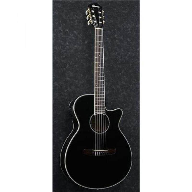 Ibanez AEG10NII Nylon String Cutaway Acoustic-Electric Guitar Black Malaysia