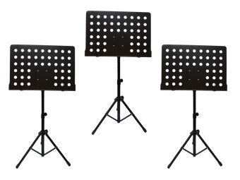 Harga [3 in 1 Value Pack] Heavy Duty Music Stand for Orchestra, Conductor, Violin, Keyboard, Guitar, Ukulele & Food Menu(High Quality)