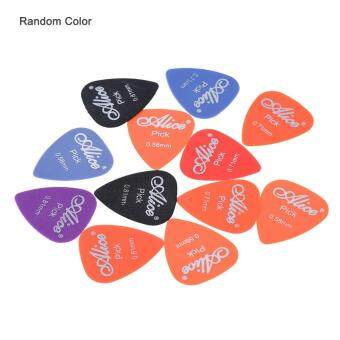 Harga Alice AP-12F 12pcs/lot Frosted Matte Nylon Guitar Picks Plectrum of 3 Gauges 0.58mm/0.71mm/0.81mm (Random Color) Outdoorfree