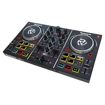 Harga Numark Party Mix | Starter DJ Controller with Built-In Sound Card & Light Show, and Virtual DJ LE Software Download