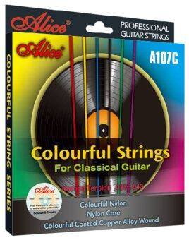 Harga Colorful Classical Guitar Strings Colorful Nylon Colorful Coated Copper Alloy Wound Alice A107C