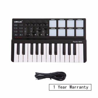 Harga Worlde Panda Mini Portable Mini 25-Key USB Keyboard with Drum Pad MIDI Controller (M-audio, Novation, Akai, Korg alike)