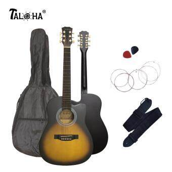 Harga Taloha Acoustic Cutaway Matte Guitar 38 inch SuperValue Package with Bag, Strings, Strap and 2 Picks (Sunburst)