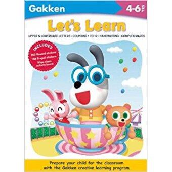 Harga LET'S LEARN (GAKKEN CHILDREN KIDS ACTIVITY WORKBOOKS)351 STICKERS 4-6YEARS[PAPERBACK]
