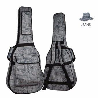 Harga Super Premium Water-resistant 15mm Padded Guitar Gig Bag for All Kinds of Guitar (Jeans)